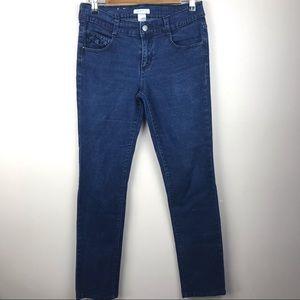 Xhilaration Ruffle Dark Wash Jeans Juniors Size 9